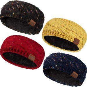 Warm Headband Fuzzy Fleece Lined Headwrap Ear Warm